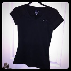 💟🚺💟 Nike Dri-Fit Women's Black V-Neck T-Shirt